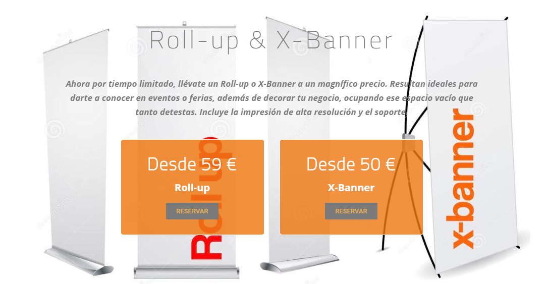 Un roll-up desde 59 euros, Black Week de Prc-Design